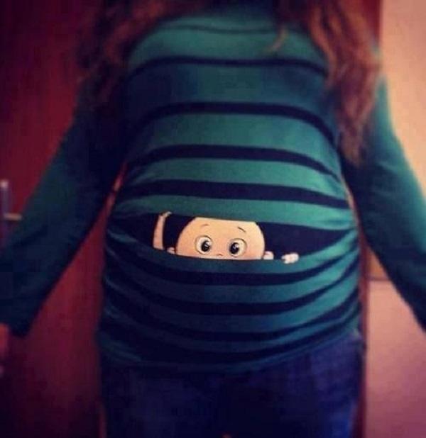Çizgili Hamile Tişörtleri
